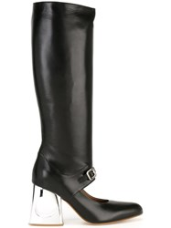 Marni Maryjane Knee Boots Black