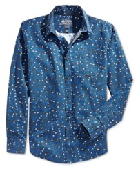 American Rag Men's Mayra Floral Print Long Sleeve Shirt Only At Macy's Blueberry