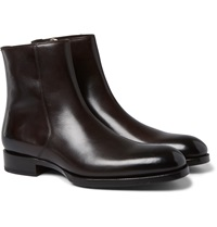 Tom Ford Burnished Leather Chelsea Boots