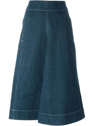 Christophe Lemaire Lemaire Patch Pocket Denim Skirt Blue