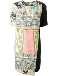 Etro Mixed Print Panelled Dress Multicolour