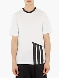 Y 3 White Pocket Detail Cotton T Shirt