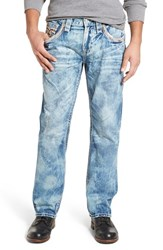 Rock Revival Men's Straight Fit Jeans Dark Blue