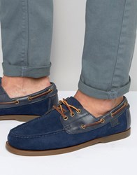 Polo Ralph Lauren Bienne Boat Shoes Navy Blue
