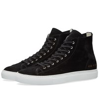 Common Projects Tournament High Suede Black