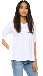 Wilt Elbow Sleeve Trapeze Tee White