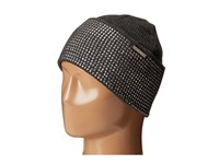Michael Michael Kors Heat Seal Studded Cuff Hat Derby Polished Nickel Caps Black
