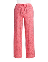 Lord And Taylor Plus Patterned Pima Cotton Pajama Pants
