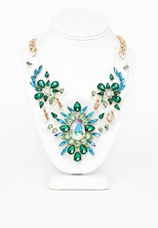 Missguided Amanda Statement Gem Perspex Necklace Multi