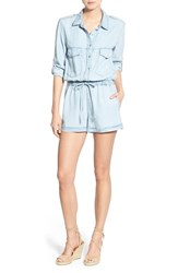 Women's Sanctuary Roll Sleeve Chambray Romper