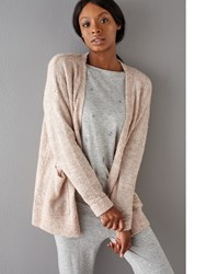 John Lewis Fluffy Knitted Cardigan Beige Pink