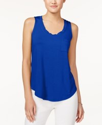 Maison Jules Pocket Tank Top Only At Macy's Lazulite