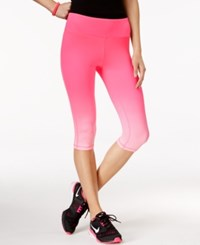 Material Girl Active Pink Ribbon Ombre Cropped Leggings Only At Macy's Pink Ombre