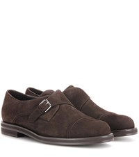 Loro Piana Meryl Suede Monk Shoes Brown