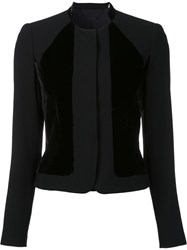 Elie Tahari Collarless Fitted Jacket Black