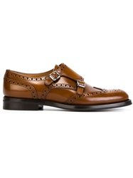 Church's Perforated Monk Shoes Brown