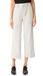Ayr The Cropped Wide Leg Pants Speckled Dove