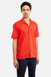 Gitman Brothers For Opening Ceremony Cotton Voile Tonal Buttons Camp Shirt Red