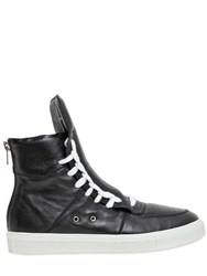 Kris Van Assche Leather High Top Sneakers