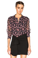 Isabel Marant Tao Printed Look Top In Red Abstract
