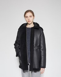 Acne Studios Fayette Shearling Coat Black