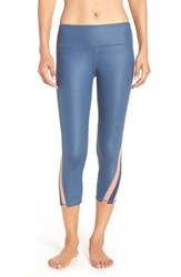 Alo Yoga Women's 'Range' Capris Starflower Glossy Paris Pink