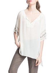Plenty By Tracy Reese Oversize Placement Tunic Tee White