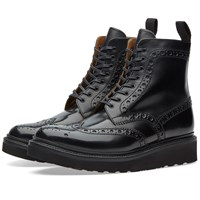 Grenson Fred V Brogue Boot Black