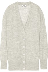 Acne Studios Rhoda Oversized Melange Alpaca And Merino Wool Blend Cardigan