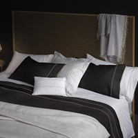 La Perla Nervures Duvet Cover Super King Black And Nude