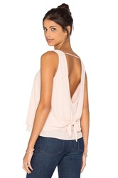 Krisa Double Layer Tie Back Tank Peach