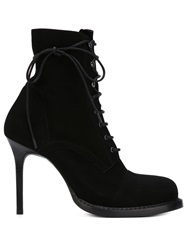 Ann Demeulemeester Stiletto Lace Up Boots