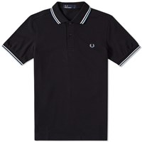Fred Perry Slim Fit Twin Tipped Polo Black