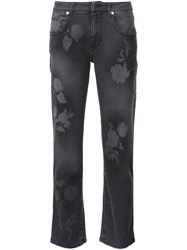 Christopher Kane Leaf Stencil Jeans Grey