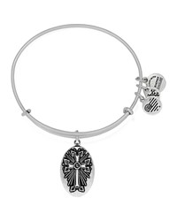 Alex And Ani Armenian Cross Iii Expandable Wire Bangle Rafaelian Silver