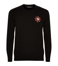 Alexander Mcqueen Embroidered Cashmere Sweater Male Black