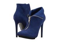 Michael Antonio Lecker Suede Cobalt Women's Zip Boots Blue
