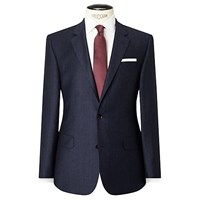John Lewis Woven By Ermenegildo Zegna Super 160S Wool Prince Of Wales Check Tailored Suit Jacket Blue