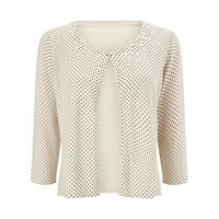 Jacques Vert Spot Embellished Cover Up Cream