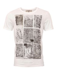 Garcia Printed Cotton T Shirt White