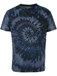 Valentino 'Tie And Dye' T Shirt Blue