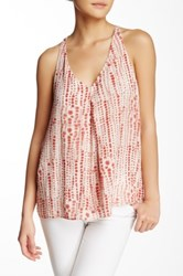 Melrose And Market Woven Racerback Tank Red