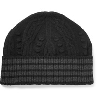 Thom Browne Cable Knit Cashmere Beanie Black