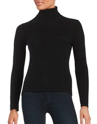 Lord And Taylor Petite Cashmere Turtleneck Sweater Black