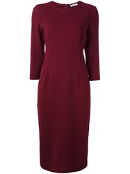 P.A.R.O.S.H. Classic Fitted Dress Red