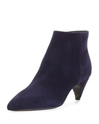 Prada Pointed Toe Low Heel Ankle Boot Bleu Men's Size 35.5B 5.5B