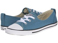 Converse Chuck Taylor All Star Fashion Basics Ballet Lace Seaside Blue Black White Women's Lace Up Casual Shoes