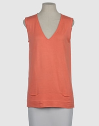 Rossopuro Sleeveless Sweaters Coral