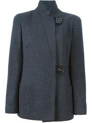 Giorgio Armani Stand Up Collar Jacket Grey