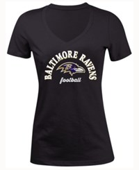 5Th And Ocean Women's Baltimore Ravens Checkdown Le T Shirt Black
